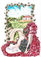 Wine angel by Maihunaa