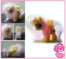 Needle felted Fluttershy, My little pony by Maihunaa