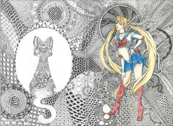 Sailor Zentangle (Sailor Moon FA)