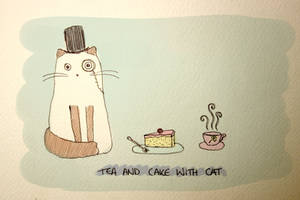 Tea and Cake with Catt by delusional-dreams