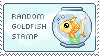 Random Goldfish Stamp by delusional-dreams