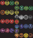 Kamen Rider OOOs all combos and medals