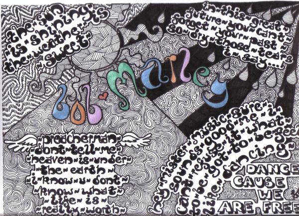 Bob Marley Lyrics Art By Ilovebenny