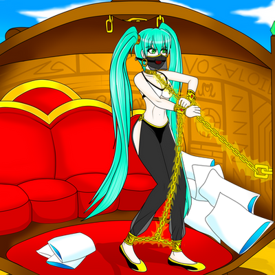 Miku Hatsune Captive in the Lamp