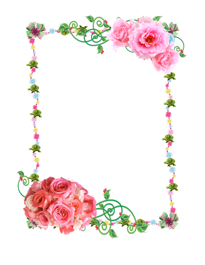 Frame Png Deviantart Frame Png With Roses by
