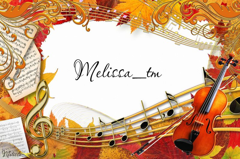 music of autumn frame psd by melissa tm - Music Picture Frame