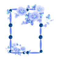 frame PNG with flowers