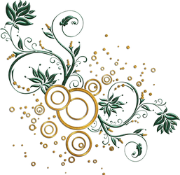 leaves and swirls png by Melissa-tm