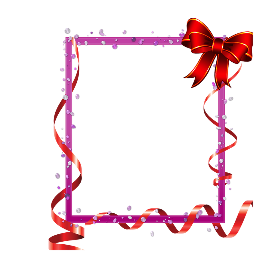 red frame with ribbons and baw png by Melissa-tm on DeviantArt