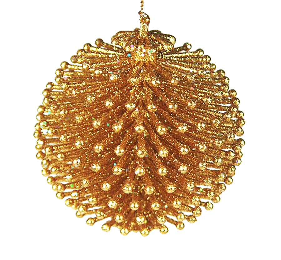 Gold Christmas Balls Png