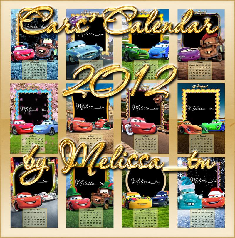 Cars Calendar 2012 PSD