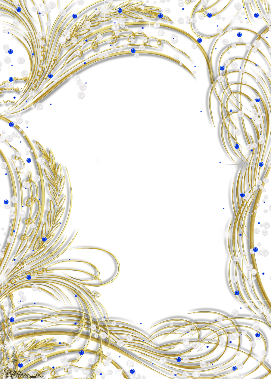 Golden Frame With Gems And Pearls Png By Melissa Tm On