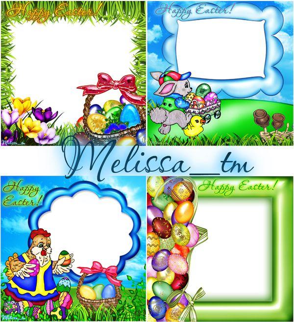 easter frames 4 psd by melissa tm - Easter Photo Frames