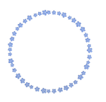frame - tender blue flowers png
