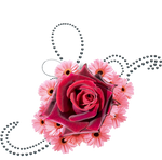 flowers and black pearls png