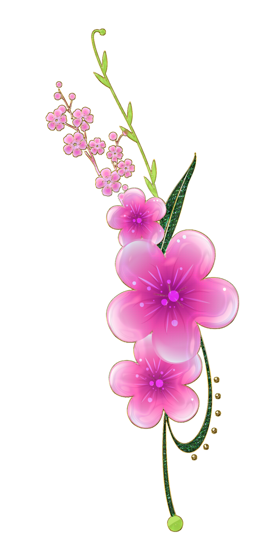sweet pink flowers png by Melissa-tm on DeviantArt