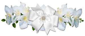 white roses and bow png