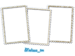 three white frames png