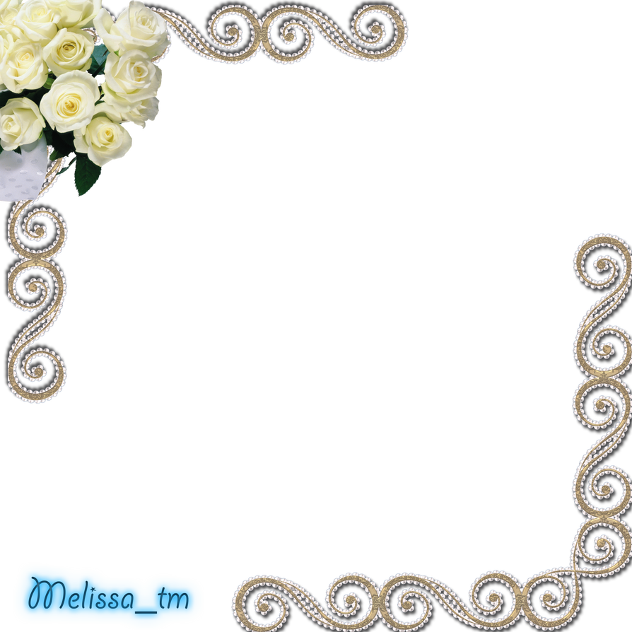 White Frame Png Frame With White Roses Png by