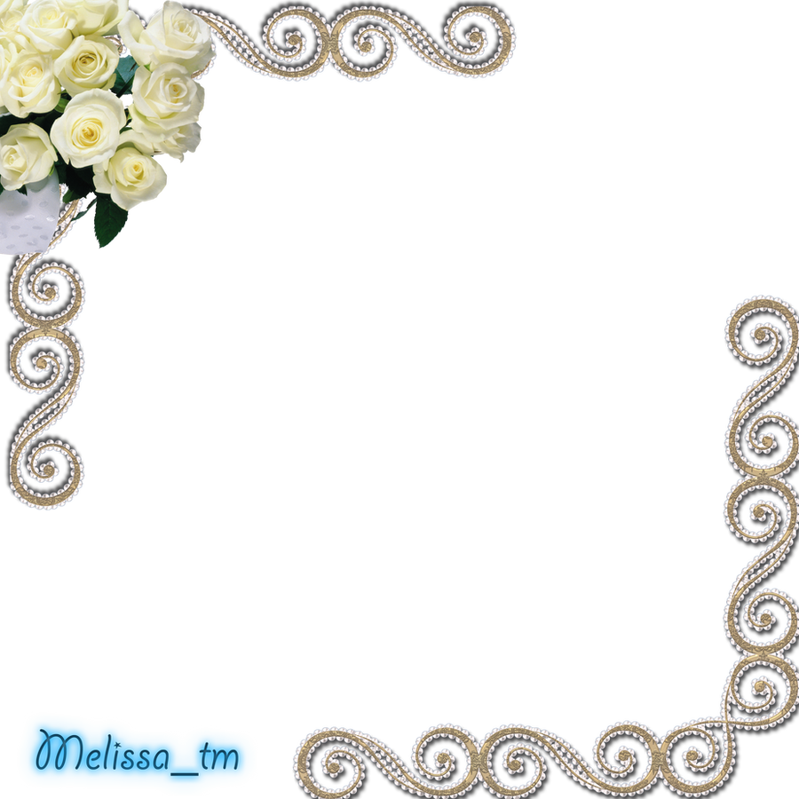 White Frame Png Frame With White Roses Png