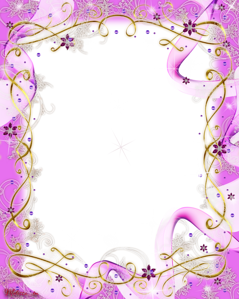 Swirl Frame Png Frame Pink Baw And Swirls Png