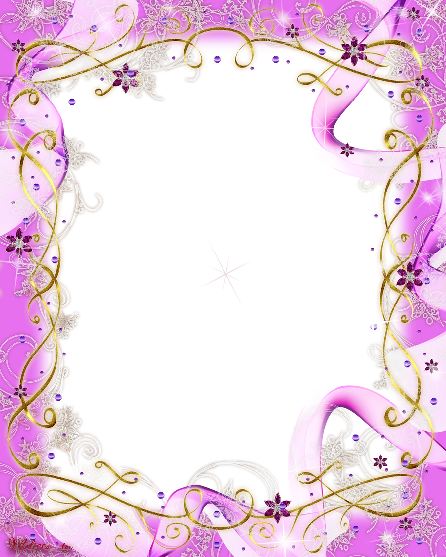 Swirl Frame Png Frame Pink Baw And Swirls