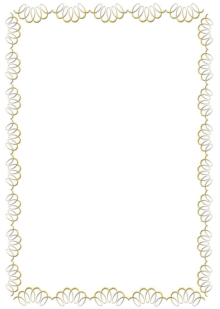 Swirl Frame Png Gold Swirl Frame Png by