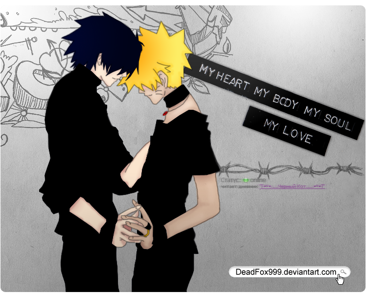 Sas and Fox. SasuNaru by DeadFox999