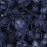 Blue Skulls Tile