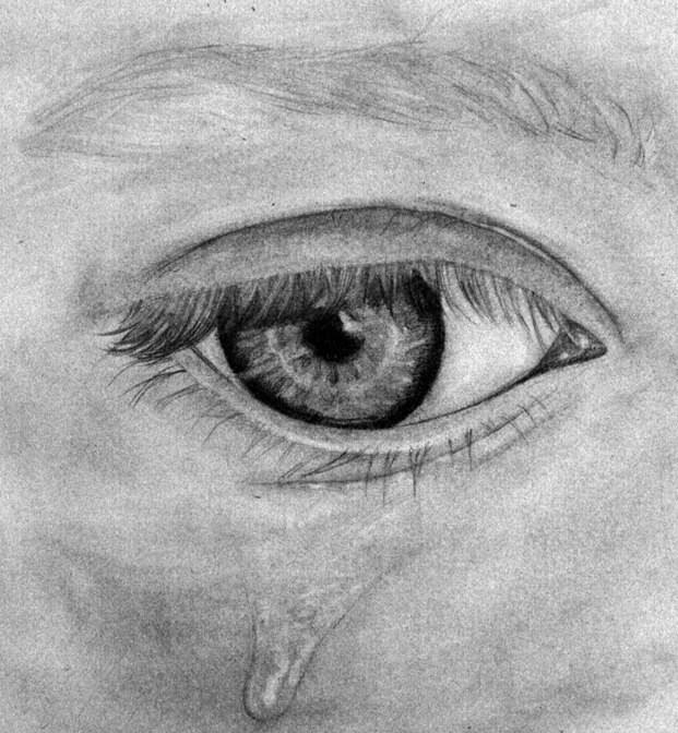 how to draw a cryoing eye