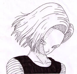 Inktober 2017 Day 7 - Android 18 by SakuraAlexia