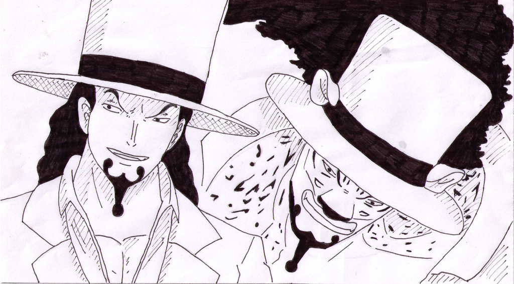 Inktober 2017 Day 8 - Rob Lucci by SakuraAlexia