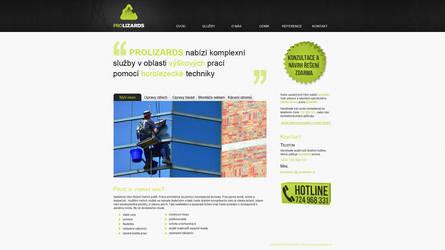 Prolizards webpage