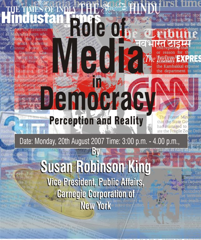 the role of media in democracy The role of the media in a democratic republic  role of media in politics frank baker media  relation between central bank s independence and democracy,.