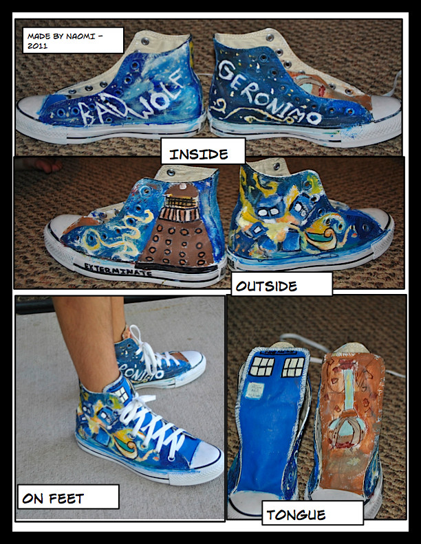 Doctor Who Shoes by HaHaIScareU