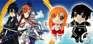 Kirito and Asuna Plushes