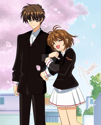 Sakura y Shaoran Card Captor Sakura by AtsukiSeiko