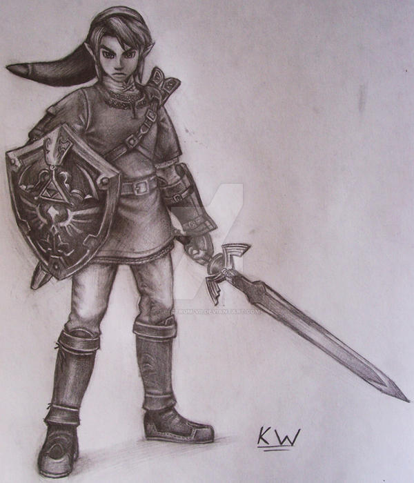 Link pencil drawing by spectrum vii