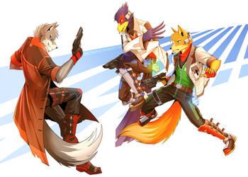 Starfox: Old Rivals by Spectrum-VII