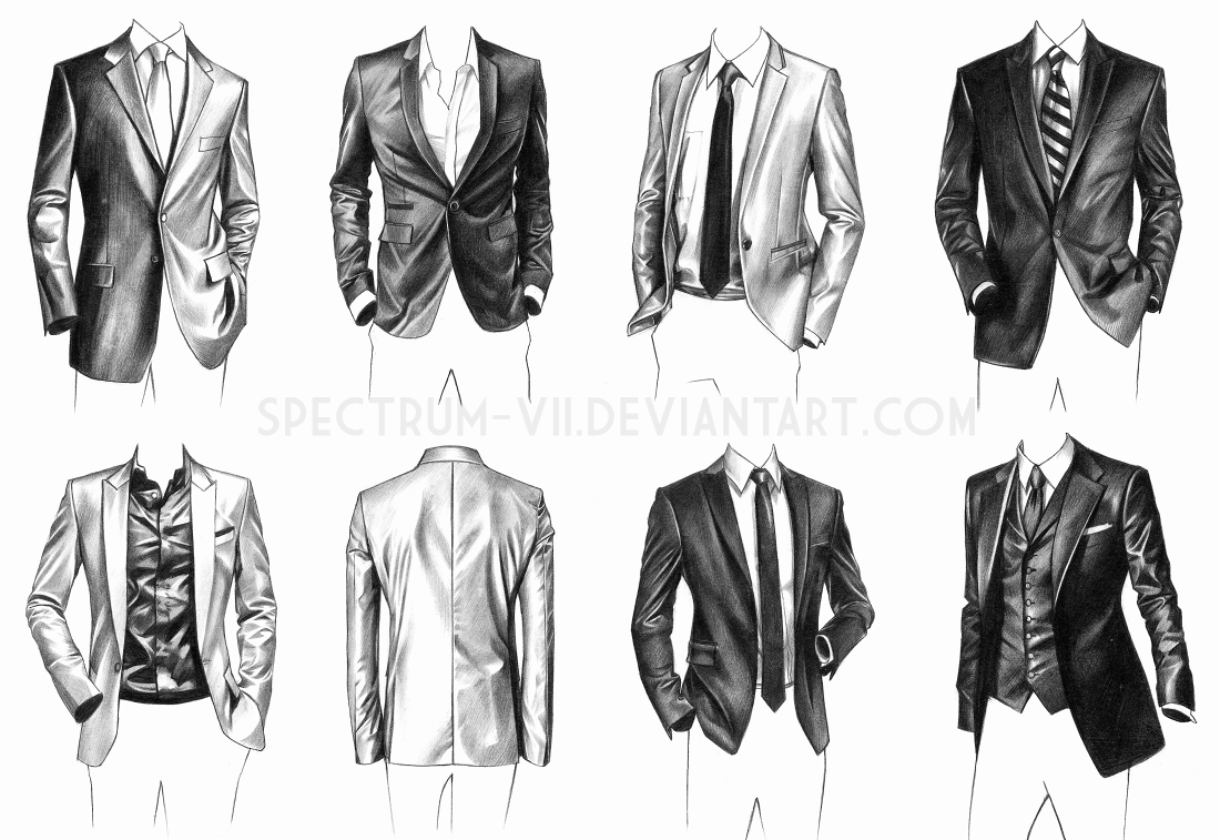 This is a picture of Gorgeous Suit Drawing Reference