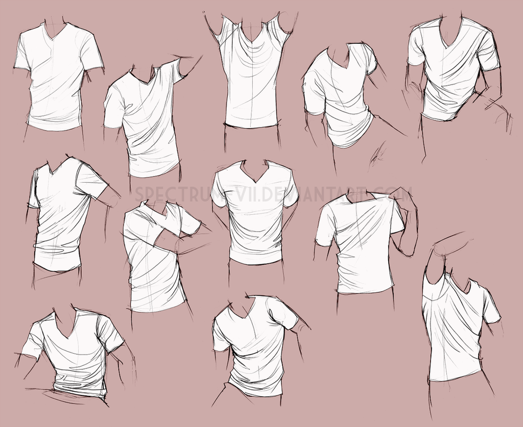 Life Study: Shirts By Spectrum-VII On DeviantArt