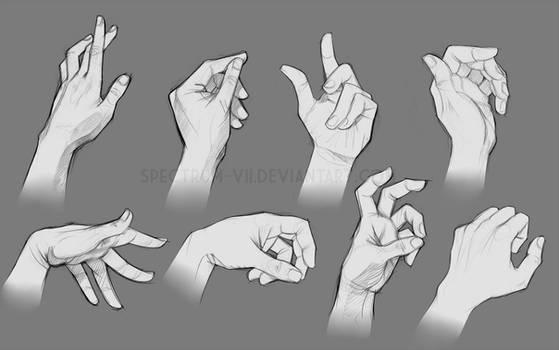 Sketch study-- hands