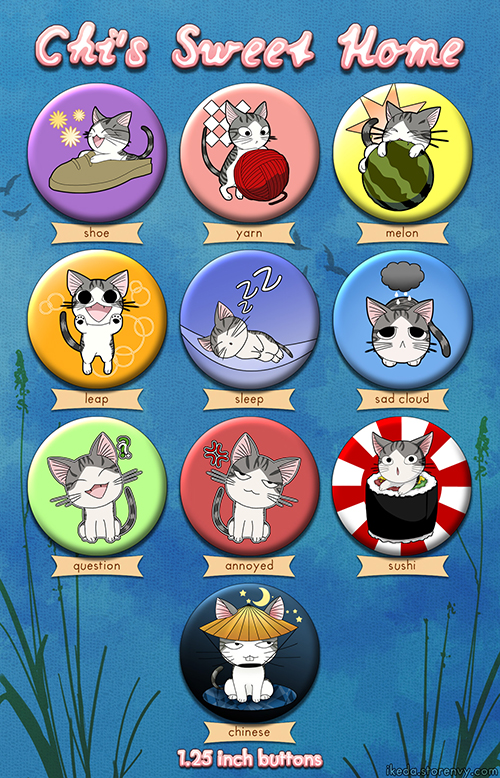 Chi's Sweet Home 1.25in Button Set by ikeda