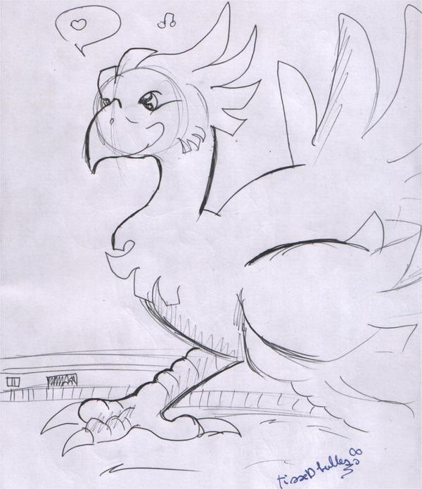 Ma galerie de dessin  Chocobo_sketch___ff_vii_by_tissedbulles_fandom-d9g2x1v