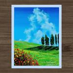 Beautiful Sunny Day Acrylic Painting