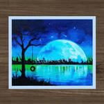 New Moon   Fantasy Art   Acrylic Painting