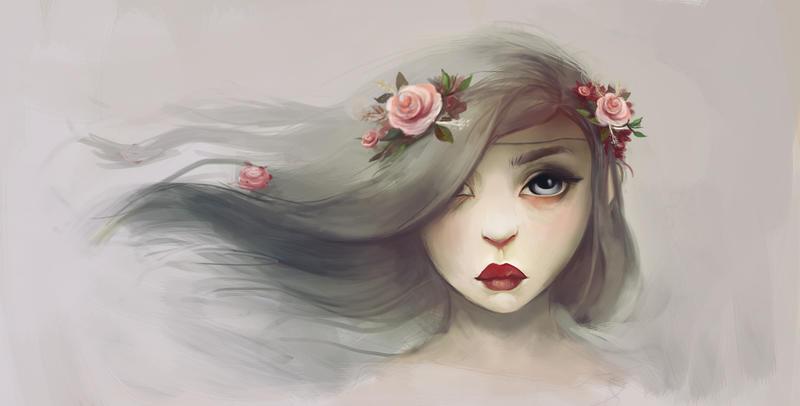 Grey with flowers by kishi-llaz