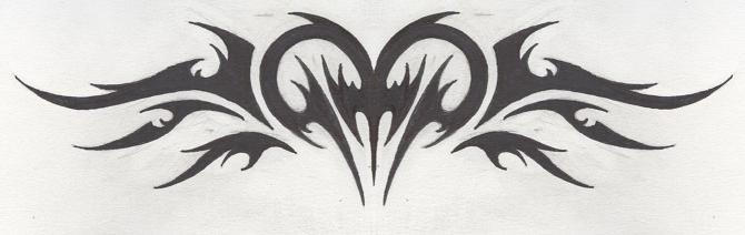 Tattoo-Tribal Heart Version 2 by HollowMinded
