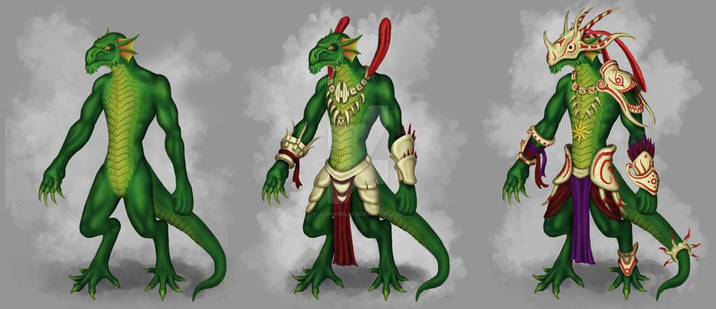 Lizardmen3typesrevamp by J-CFauvelle