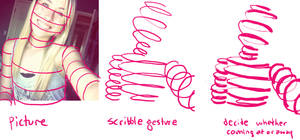 how to: scribble gesture